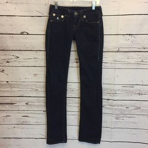 True Religion Sz 25 Jeans Straight Leg dark wash